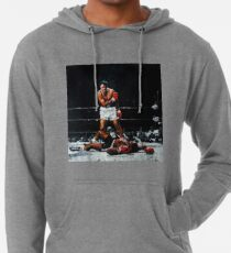 Muhammad Ali Knocks Out Sonny Liston Lightweight Hoodie