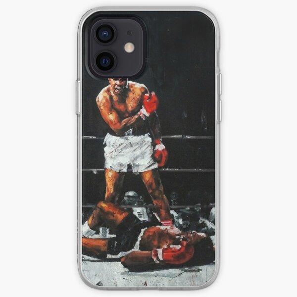 Muhammad Ali verprügelt Sonny Liston iPhone Flexible Hülle