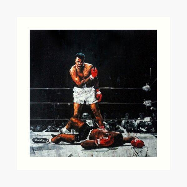Muhammad Ali Knocks Out Sonny Liston Art Print