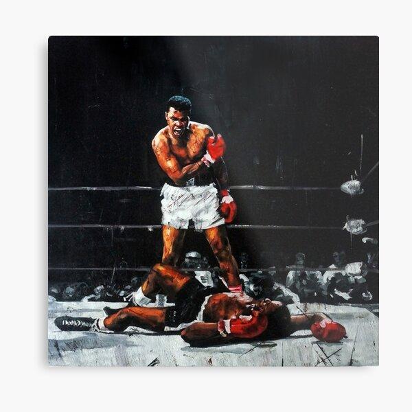 Muhammad Ali Knocks Out Sonny Liston Metal Print