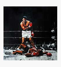 Muhammad Ali Knocks Out Sonny Liston Photographic Print