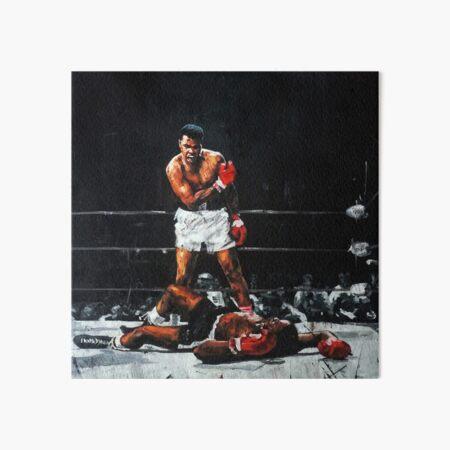 Muhammad Ali Knocks Out Sonny Liston Art Board Print