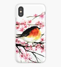 Cherrry Blossom Birds iPhone Case/Skin