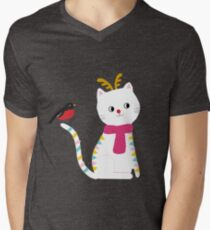 Rudolf The Red Nose Cat T-Shirt