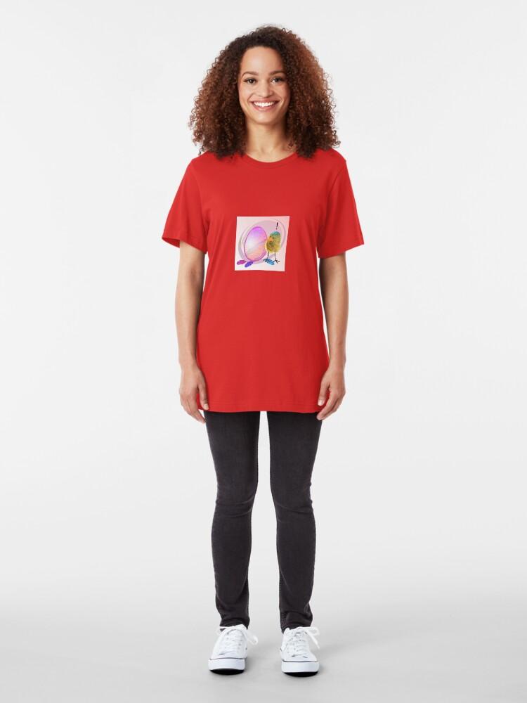 Alternate view of Two Scrambled Eggs - EGGsuberant Slim Fit T-Shirt