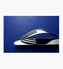 Silver fork and knife Photographic Print
