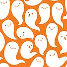 Friendly Ghosts (Orange) by KristyKate