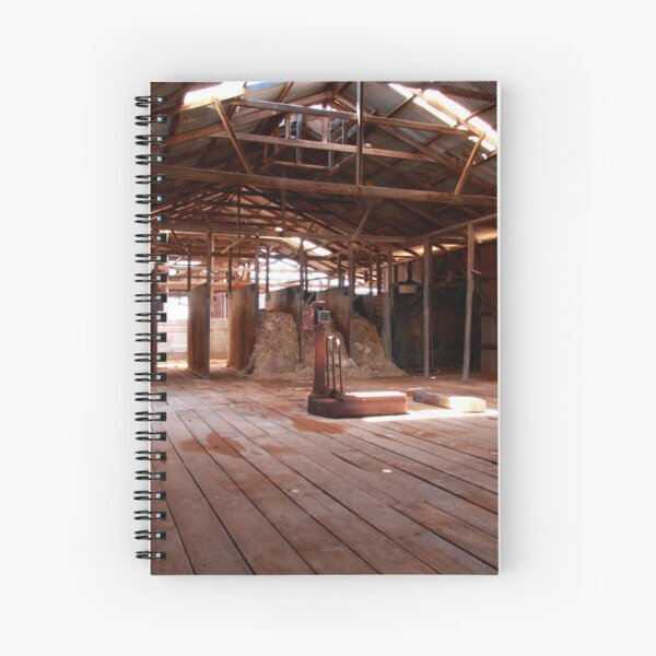 Old shearing shed Spiral Notebook