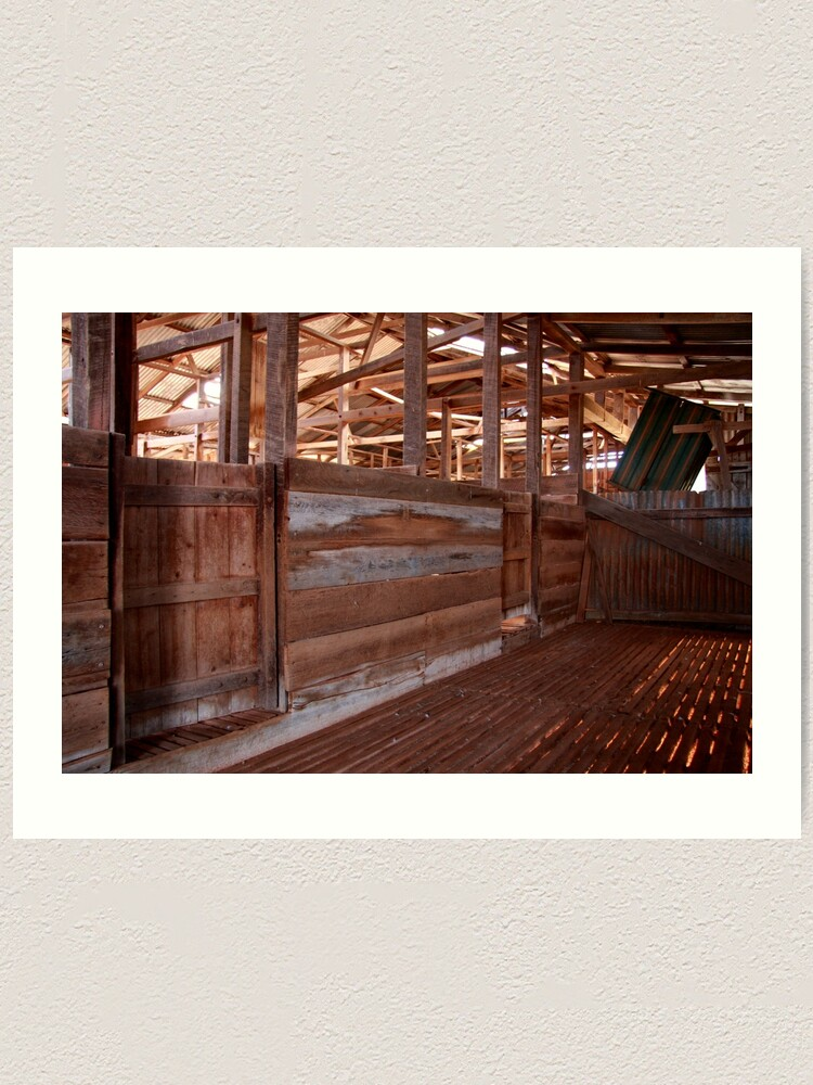 Alternate view of Shearing shed - holding pen Art Print