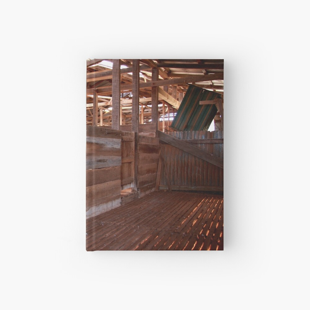 Shearing shed - holding pen Hardcover Journal