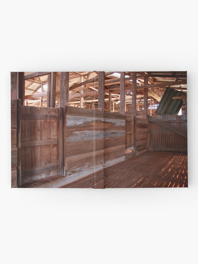 Alternate view of Shearing shed - holding pen Hardcover Journal