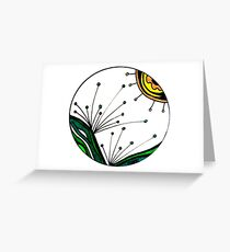 Plant Burst Greeting Card