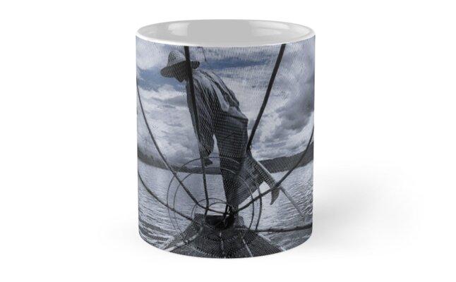 Burmese Net Fisherman - Mug by Glen Allison
