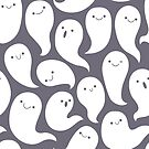Friendly Ghosts (Dark Grey) by KristyKate