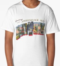 Greetings from Adirondack Mountains, New York Long T-Shirt