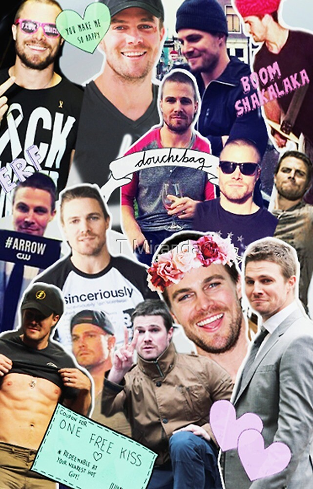 Stephen Amell collage by T Miranda