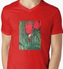 Tulips have a friend  Men's V-Neck T-Shirt