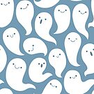 Friendly Ghosts (Blue) by KristyKate
