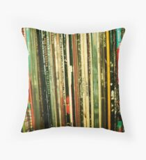 vinyl life Throw Pillow
