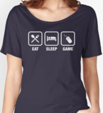 Eat Sleep Game Gamer Tee Women's Relaxed Fit T-Shirt
