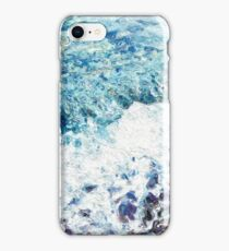 Waves lap at the shore - painting - art gift - abstract iPhone Case/Skin