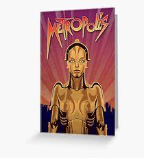 Metropolis Robot Greeting Card