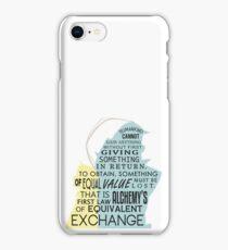 Equivalent Exchange iPhone Case/Skin