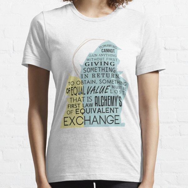 Échange équivalent T-shirt essentiel
