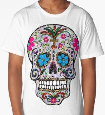 sequin sugar skulls long t shirt - Mexican Halloween Skulls