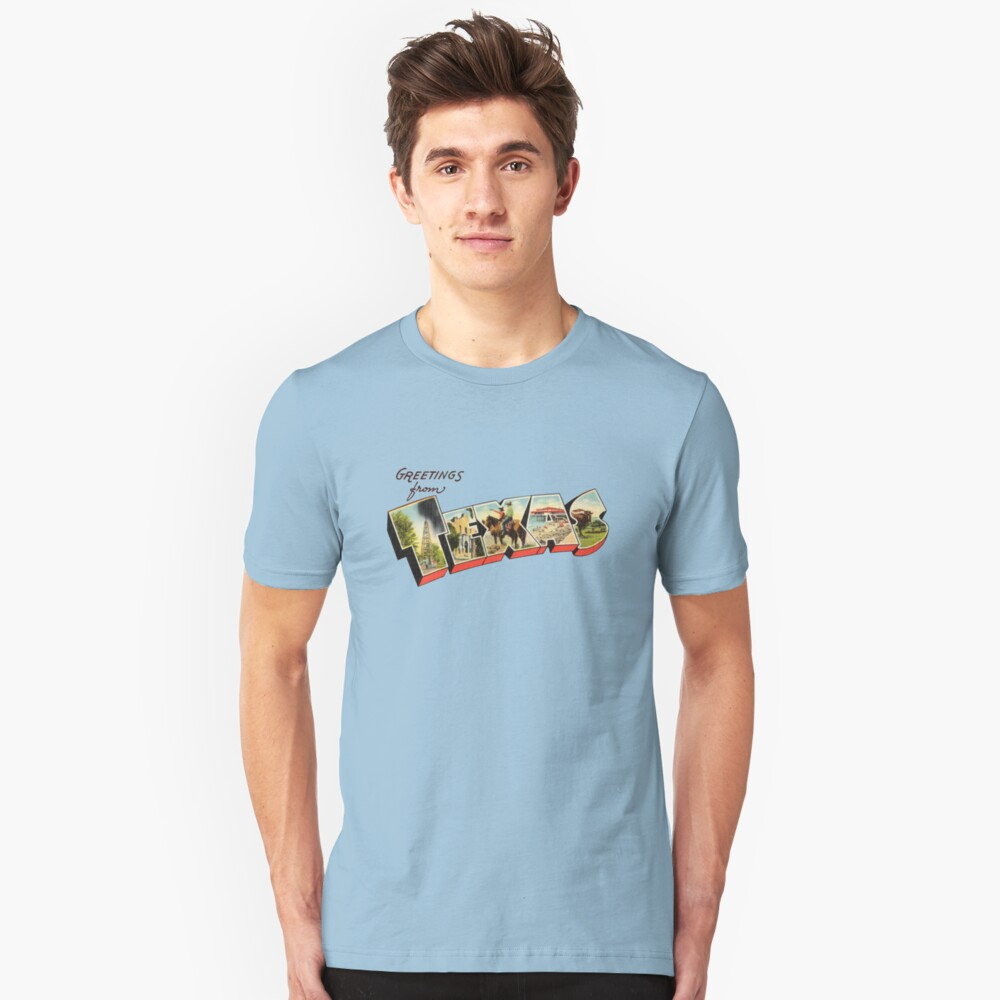 Greetings from Texas 2a Slim Fit T-Shirt