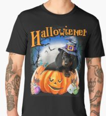 Happy Halloweiner Design Funny Dachshund Halloween Costumes Men's Premium T-Shirt