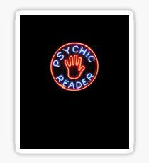 Psychic Reader // Neon City Lights Sticker