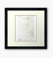 USGS TOPO Map Idaho ID South Chapin Mountain 238231 1985 24000 Framed Print