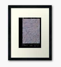 USGS TOPO Map Idaho ID Sourdough Peak 20110121 TM Inverted Framed Print