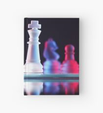 Glass Chess Pieces Hardcover Journal