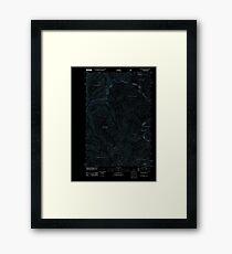 USGS TOPO Map Idaho ID Granite Pass 20110603 TM Inverted Framed Print