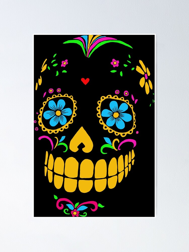 Sugar Skulls 7 x 10 Inch Notebook//Journal with Mexican Calavera Art Cover Dia De Los Muertos Notebook