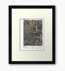 USGS TOPO Map Idaho ID South Putnam Mountain 20110211 TM Framed Print
