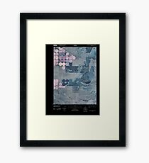 USGS TOPO Map Idaho ID South Chapin Mountain 20101116 TM Inverted Framed Print