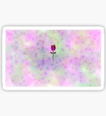 Tulip in colorful clouds Sticker