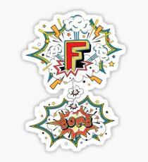 Comic Style F-Bomb Sticker