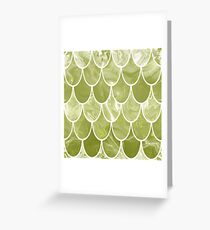 Green scales Greeting Card