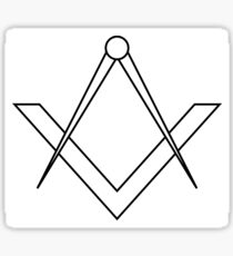Simple masonic symbol of the square and compass Sticker