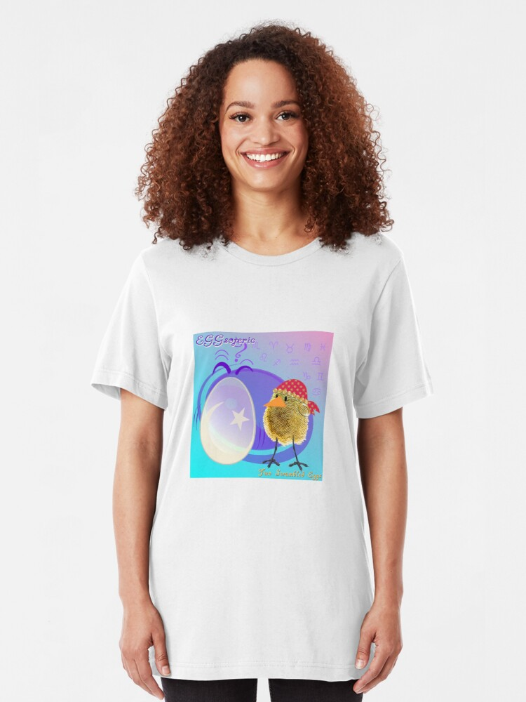 Alternate view of Two Scrambled Eggs - EGGsoteric Slim Fit T-Shirt