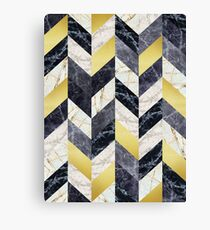 Marble and gold pattern Canvas Print