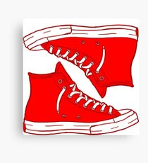 Generic Red Not Converse Canvas Print