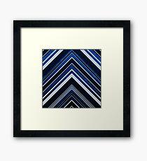 Geometric Geode - Sapphire Framed Print