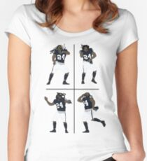 Marshawn Lynch Dancing Women's Fitted Scoop T-Shirt
