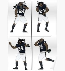 Marshawn Lynch Dancing Poster