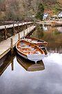 Wooden Boats at Balmaha, Scotland by Christine Smith